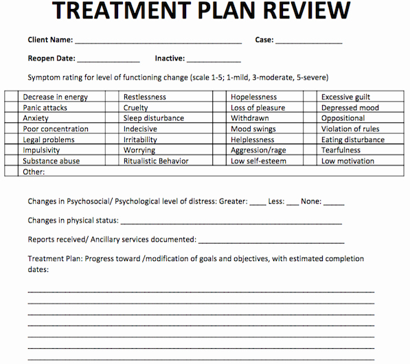 Patient Safety Plan Template Luxury Treatment Plan Review