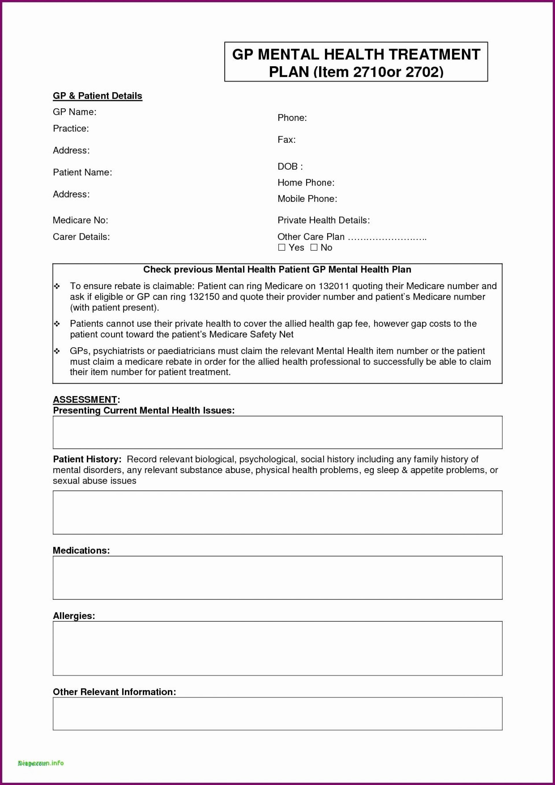 Patient Safety Plan Template Unique 017 Treatment Plan Template Custom with Obturator the