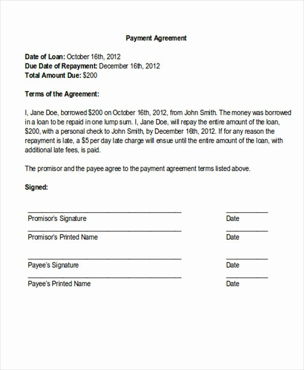 Payment Plan Letter Template Lovely 36 Payment Letter formats