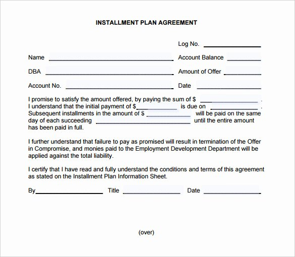 Payment Plan Template Free Beautiful Payment Plan Agreement Template – 21 Free Word Pdf