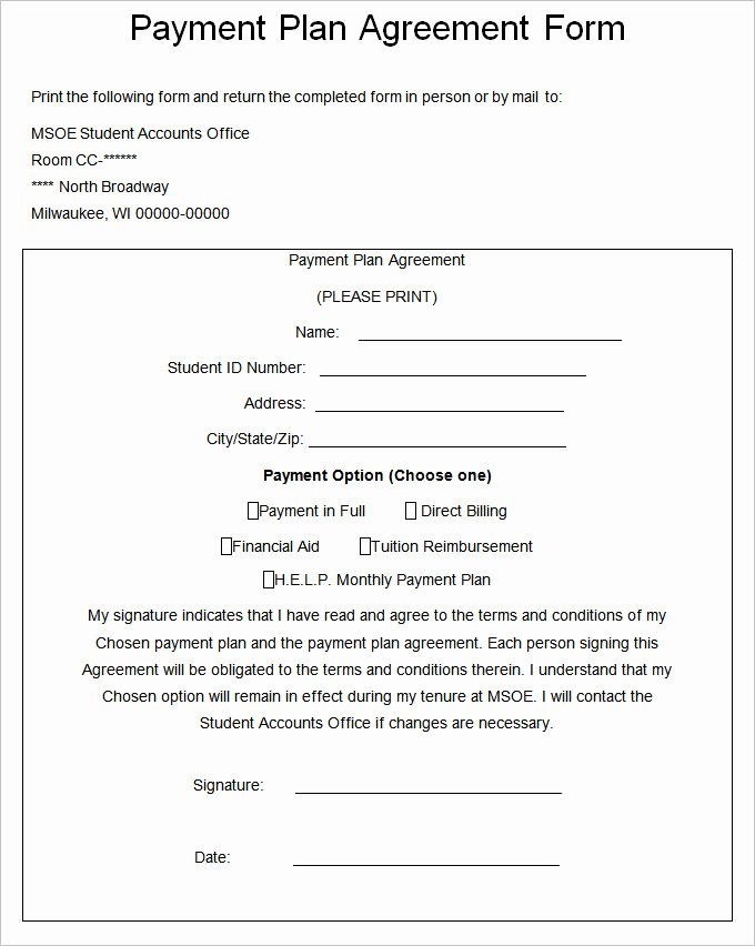 Payment Plan Template Free Luxury Payment Plan Agreement Template – 21 Free Word Pdf