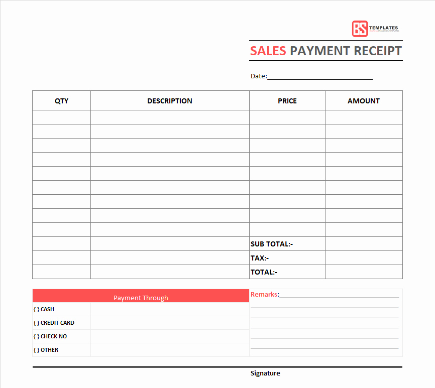 Payment Receipt format Doc Best Of Payment Receipt Template – Free Simple Word Excel