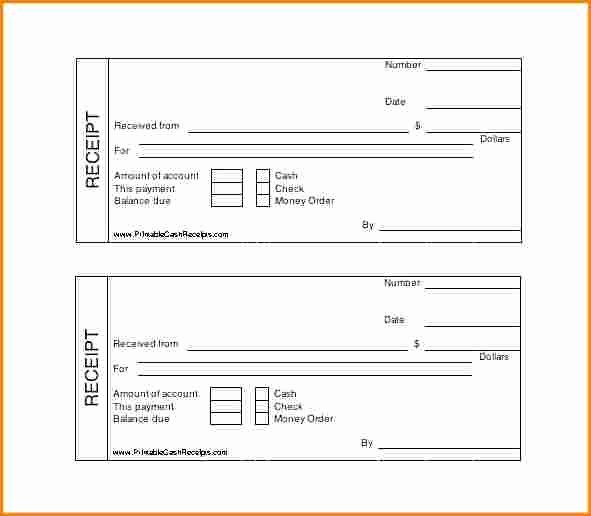 6 free payment receipt template