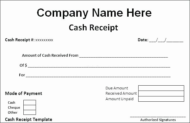 Payment Receipt format Doc Inspirational Cheque Receipt Template Receipt format for Cheque Payment