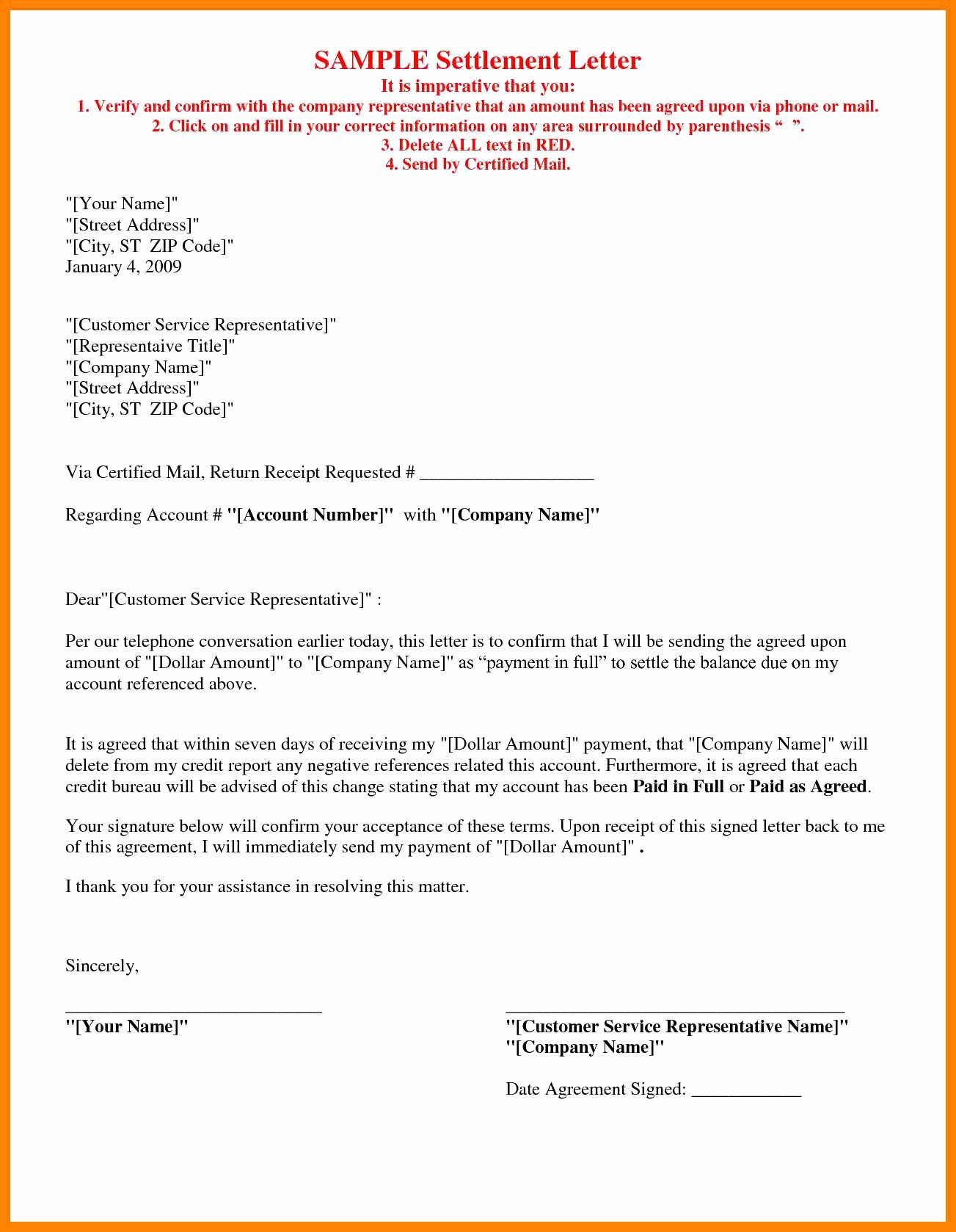 Payment Settlement Letter format Beautiful Car Accident Settlement Letter Template Samples