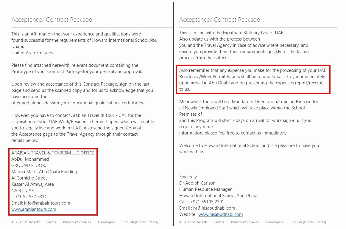 Payment Shock Letter Luxury Howard International School Abu Dhabi – A Trap You May