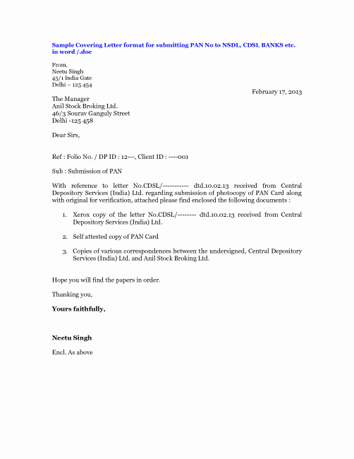 Payment Shock Letter Template Beautiful Sample Cover Letter for Submitting Documents