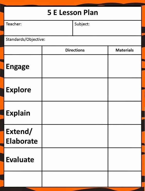Pbl Lesson Plan Template New the 5e Model Our New Lesson Plans