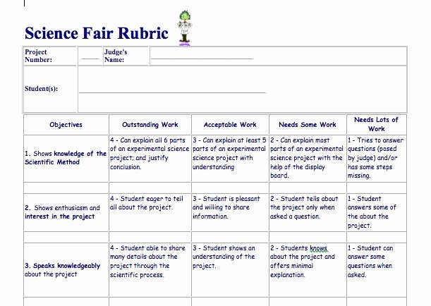 Pbl Lesson Plan Template Unique Science Fair Project Rubric Elementary