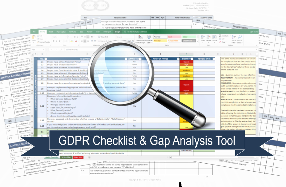 Pci Gap Analysis Template Unique Gdpr Pliance Checklist Know Your Pliance