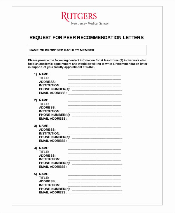 Peer Letter Of Recommendation Luxury Examples Of Re Mendation Letter