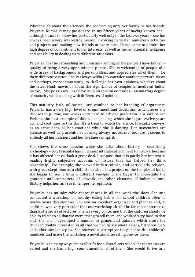 Peer Recommendation Letter Example Beautiful Peer Re Mendation for the Applicant