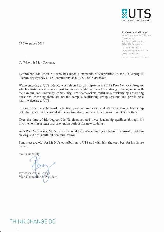 Peer Recommendation Letter Example Lovely Peer Networking Reference Letter