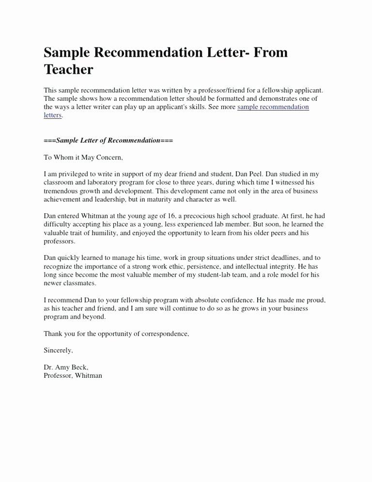 Peer Recommendation Letter Example New Letter for Student Scholarship Sample Short Re Mendation
