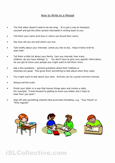 Pen Pal Letter format Beautiful Pen Pal Letter Writing Template for Children Love This