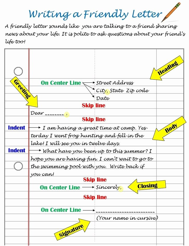 Pen Pal Letter format Best Of Best 25 Friendly Letter Ideas On Pinterest