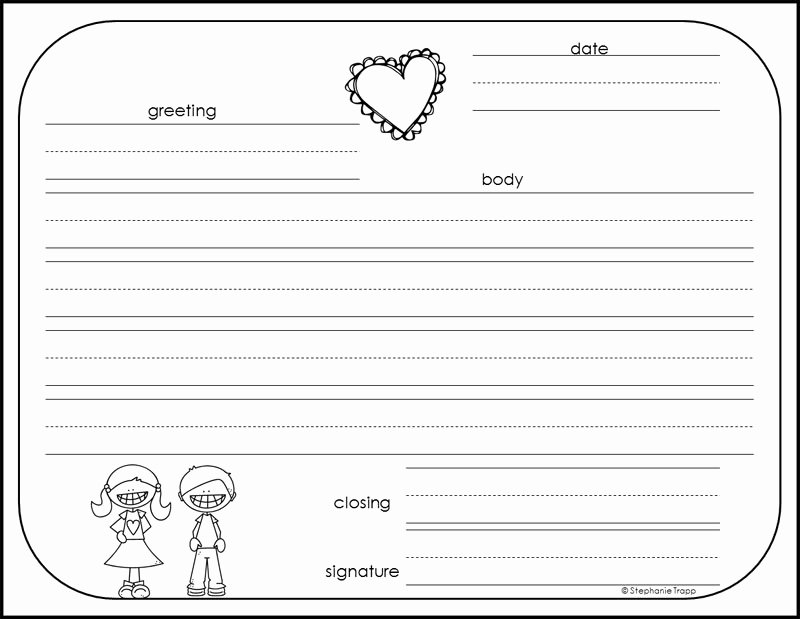 Pen Pal Letter format Fresh Friendly Letter Template