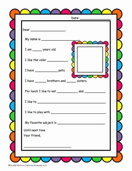 Pen Pal Letter format Lovely 34 Best Pre K Pen Pals Crayon Bud S Images On
