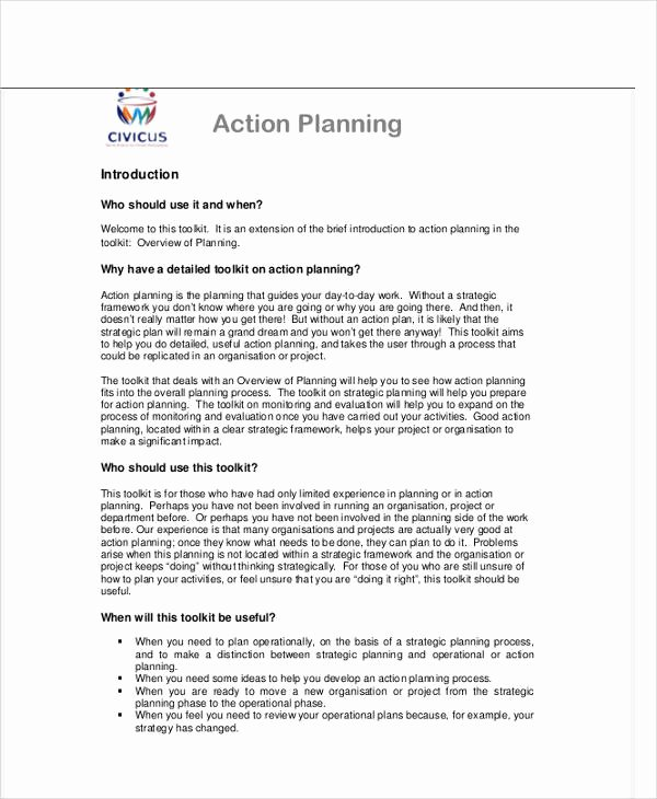 Performance Action Plan Template Best Of Performance Action Plan Templates 7 Free Word Pdf