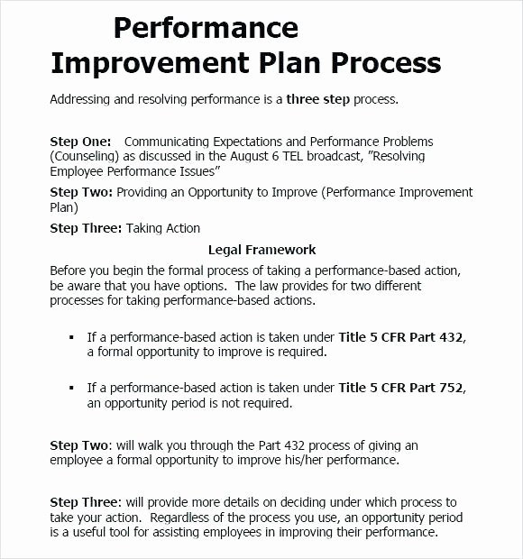 Performance Action Plan Template Elegant Employee Work Improvement Plan Template – Btcromaniafo