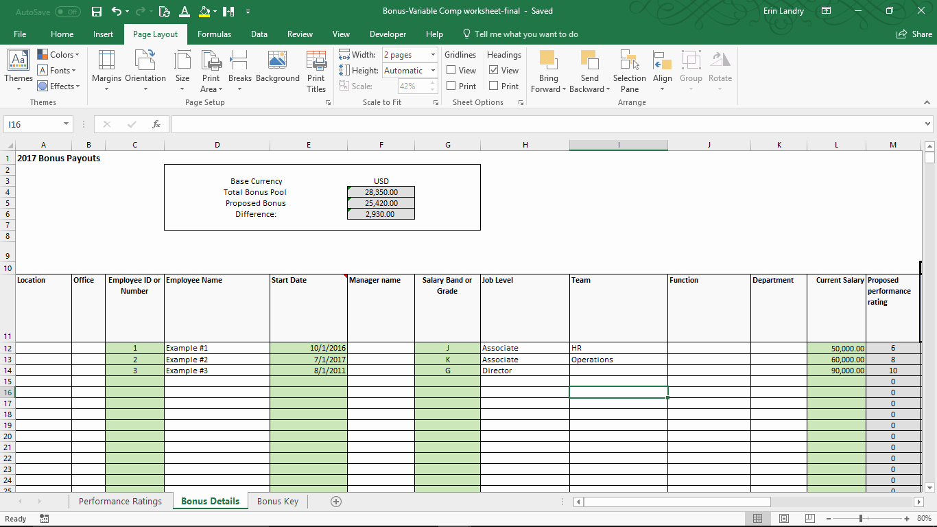 Performance Based Bonus Plan Template Fresh Variable Pensation Plan Template