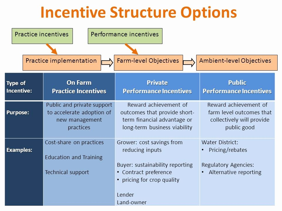 Performance Based Bonus Plan Template New Performance–based Incentives for Conservation In