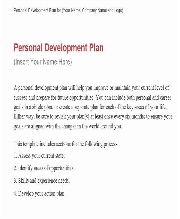 Performance Development Plan Template Elegant Performance Development Plan Templates 9 Free Word Pdf