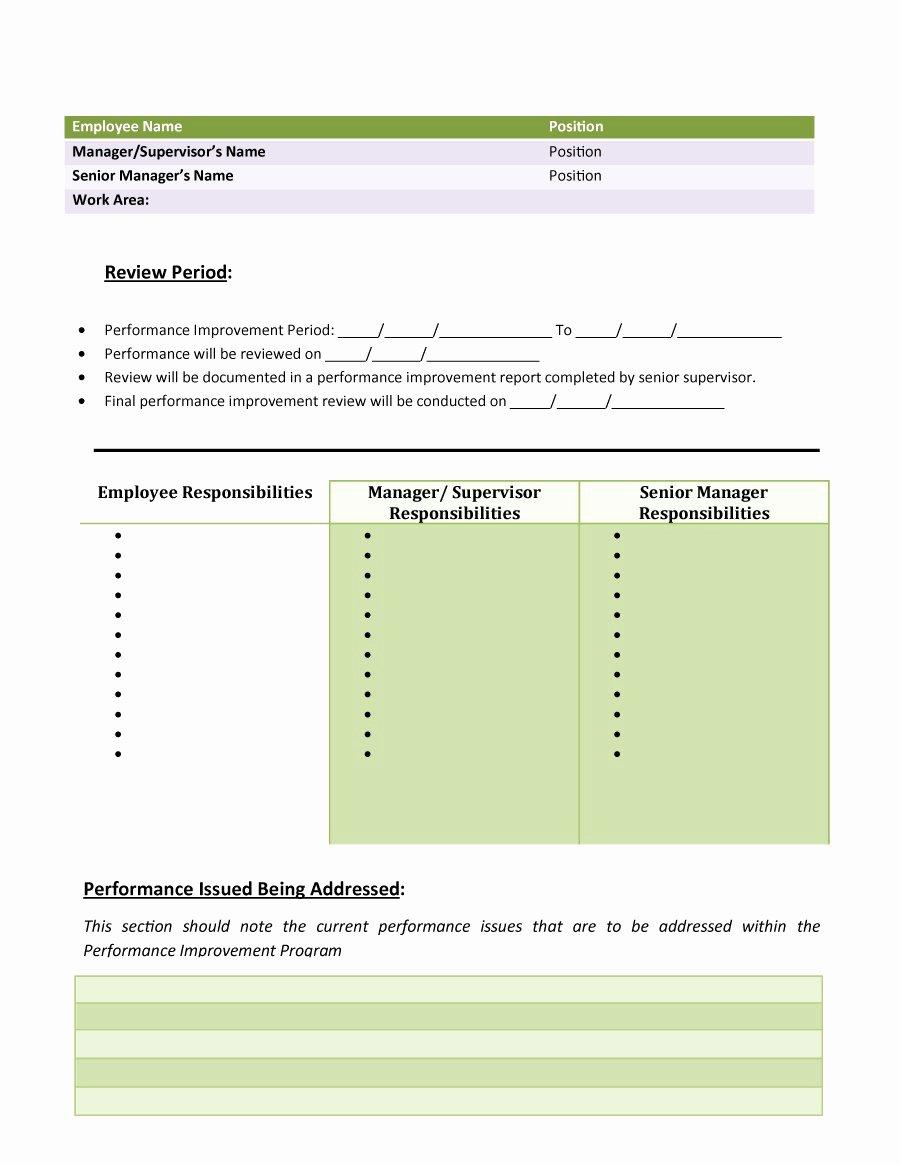 Performance Improvement Plan Template Beautiful 40 Performance Improvement Plan Templates & Examples