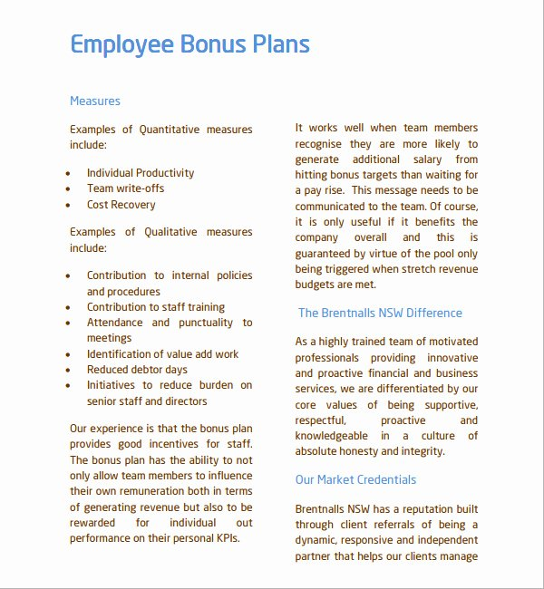 Performance Incentive Plan Template Beautiful Employee Bonus Plan Template Uk Templates Resume