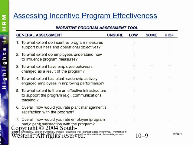 Performance Incentive Plan Template Elegant Chapter 10 Pay for Performance Incentive Rewards