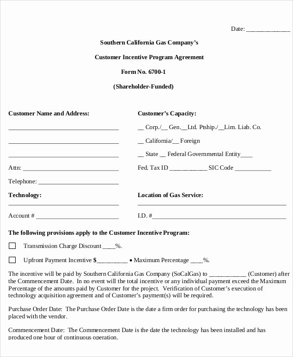 Performance Incentive Plan Template Unique 9 Incentive Agreement Templates Free Sample Example