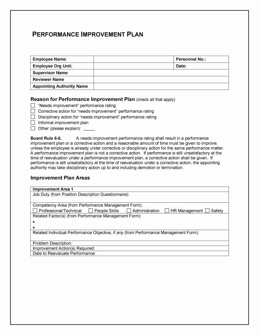 Performance Management Plan Template Inspirational 40 Performance Improvement Plan Templates & Examples