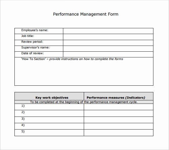 Performance Management Plan Template Lovely Sample Performance Review Template 7 Documents In Pdf