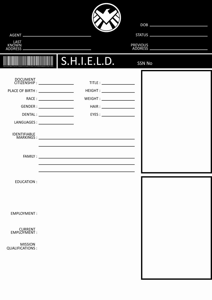 Persona Oc Template Awesome Avengers S H I E L D Template by Gasukai On Deviantart