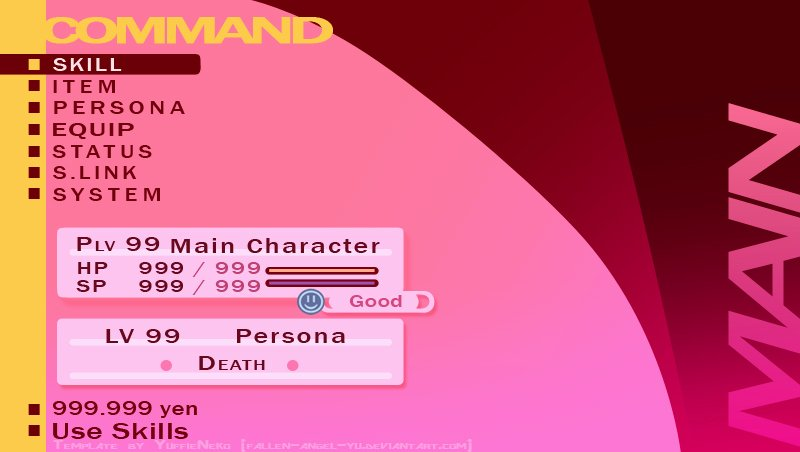 Persona Oc Template Lovely P3p Status Template Fem Mc by Yuffieneko On Deviantart