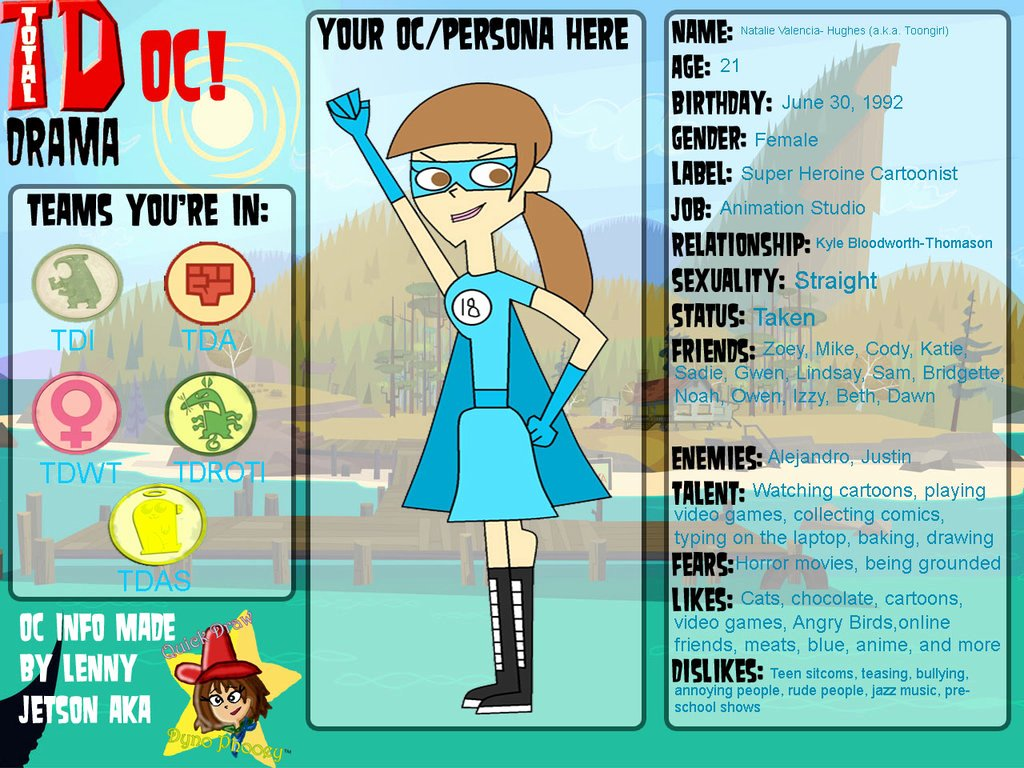 Persona Oc Template New total Drama Oc toongirl Persona by toongirl18 On Deviantart