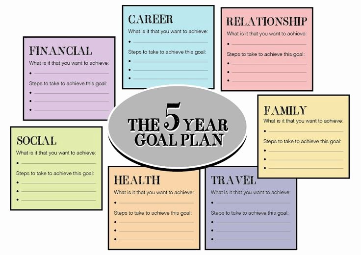 Personal 5 Year Plan Template Awesome Directions Please