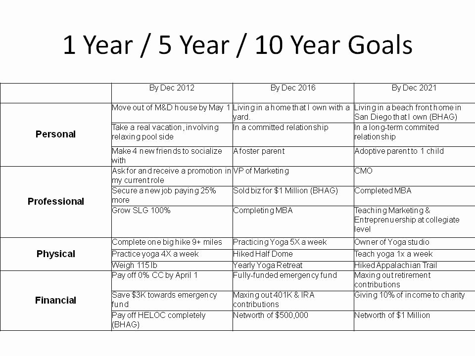 Personal 5 Year Plan Template Luxury 26 Of 5 Year Goal Setting Template