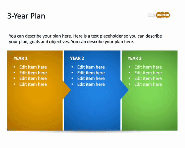Personal 5 Year Plan Template New 3 Year Strategic Plan Powerpoint Template is A Free