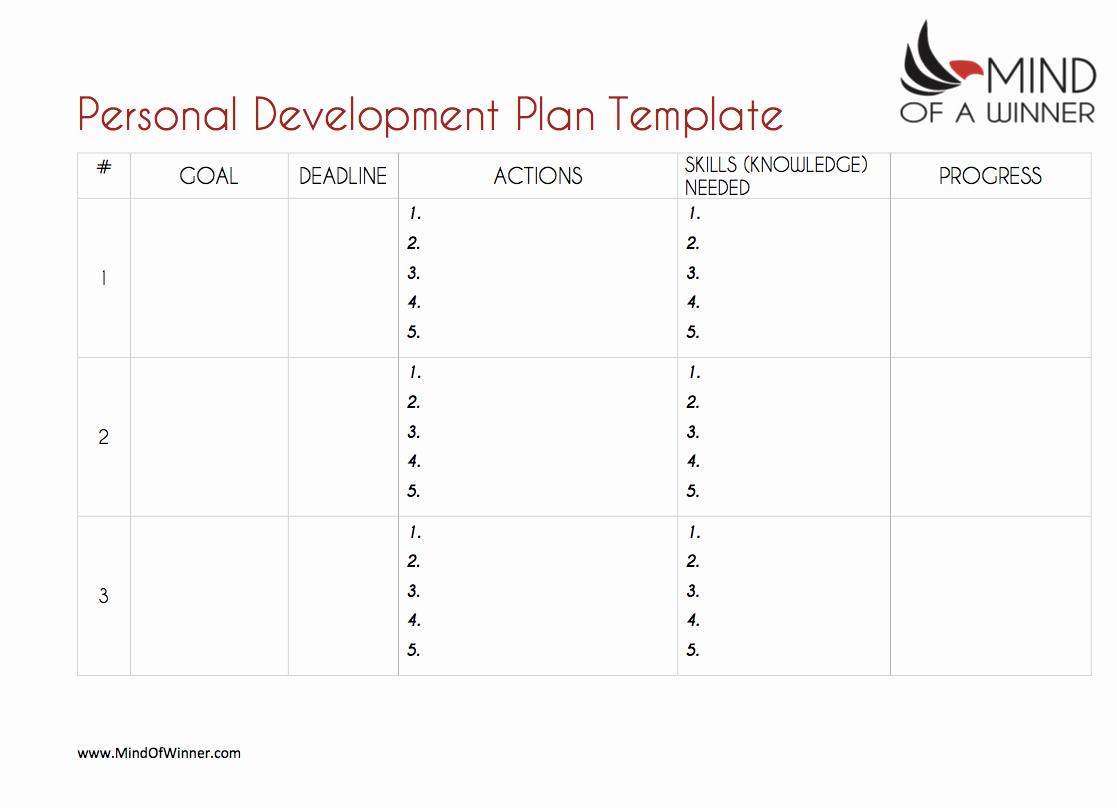 Personal Development Plan Template Beautiful the Ultimate Personal Development Plan Guide Free Templates