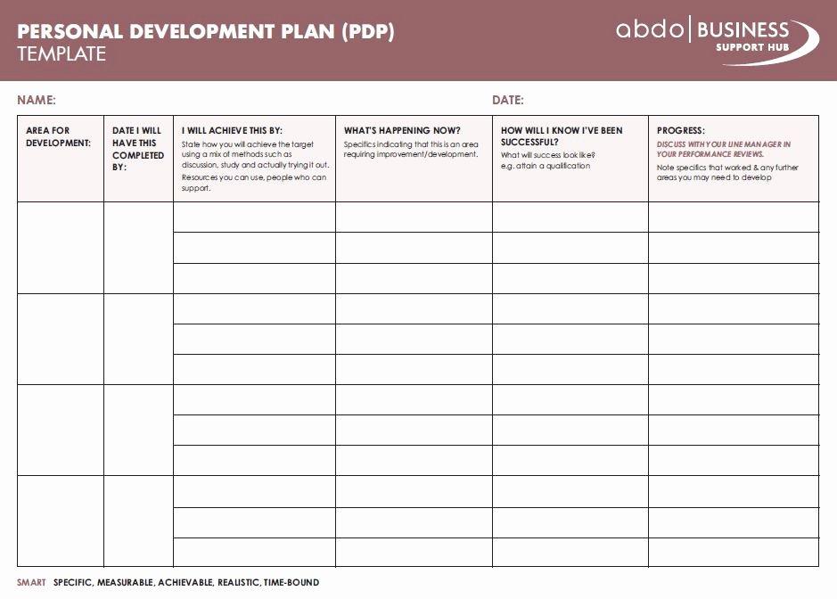 Personal Development Plan Template Luxury Personal Development Plan Template