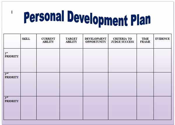 Personal Development Plan Template Unique Help Yourself by Following these Great Self Improvement