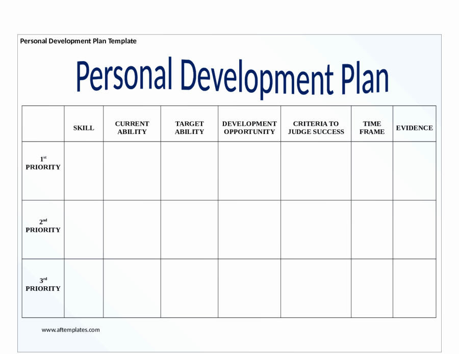 Personal Development Plan Template Word New Individual Development Plan Template
