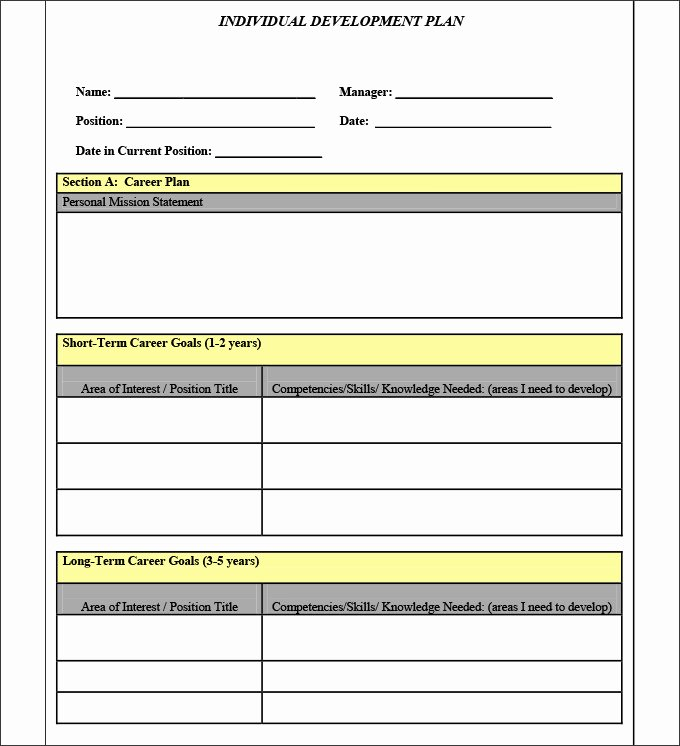 Personal Development Plan Template Word New Sample Personal Development Plan Template 10 Free