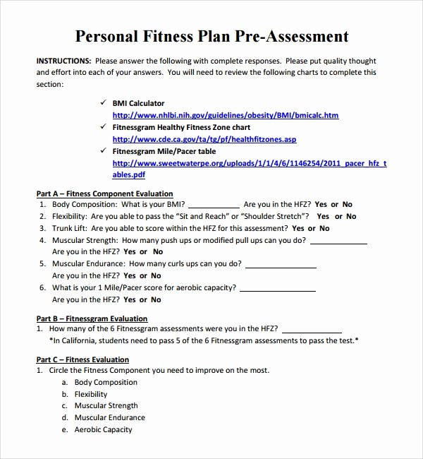 Personal Fitness Plan Template Best Of 10 Fitness Plan Templates