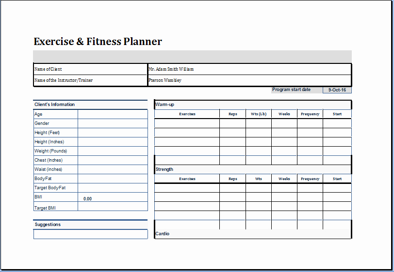 Personal Fitness Plan Template Elegant Pin by Microsoft Fice Templates On Microsoft Templates