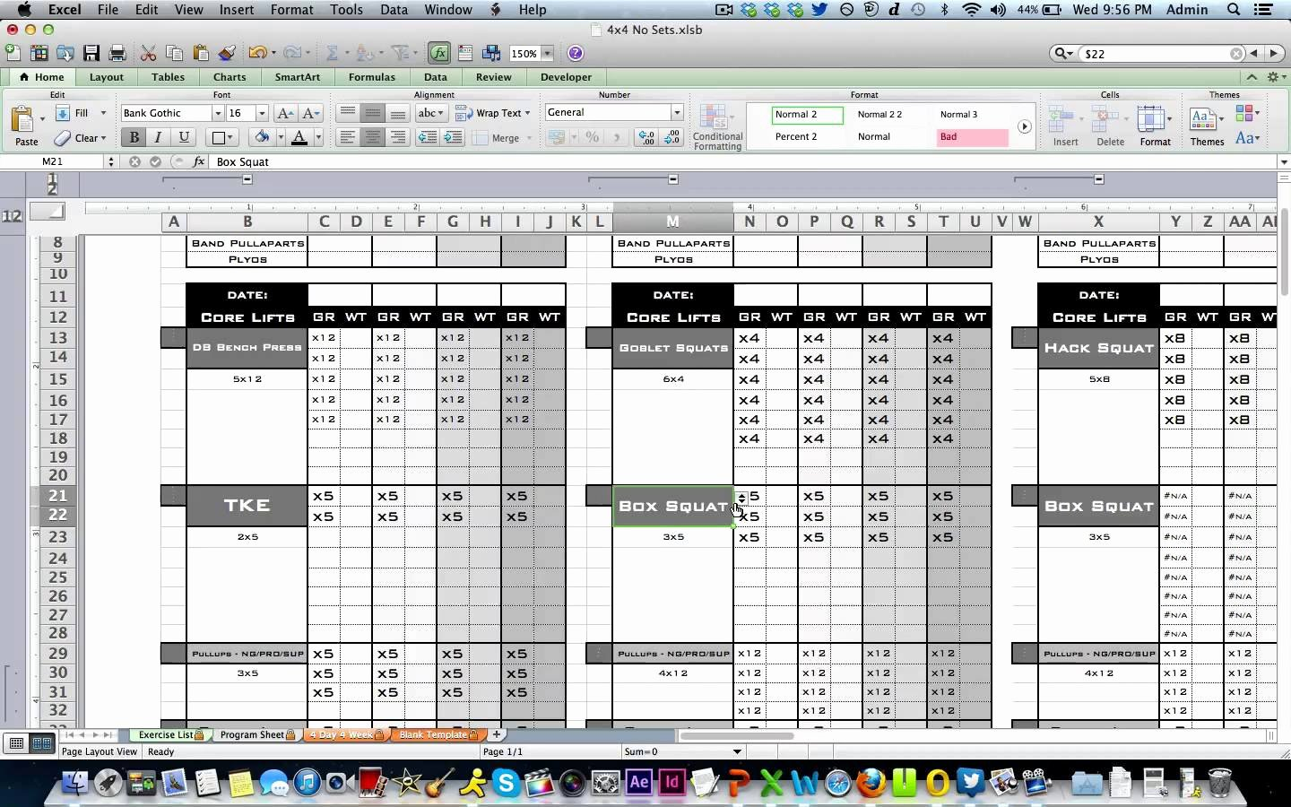 Personal Fitness Plan Template Inspirational Workout Template Excel
