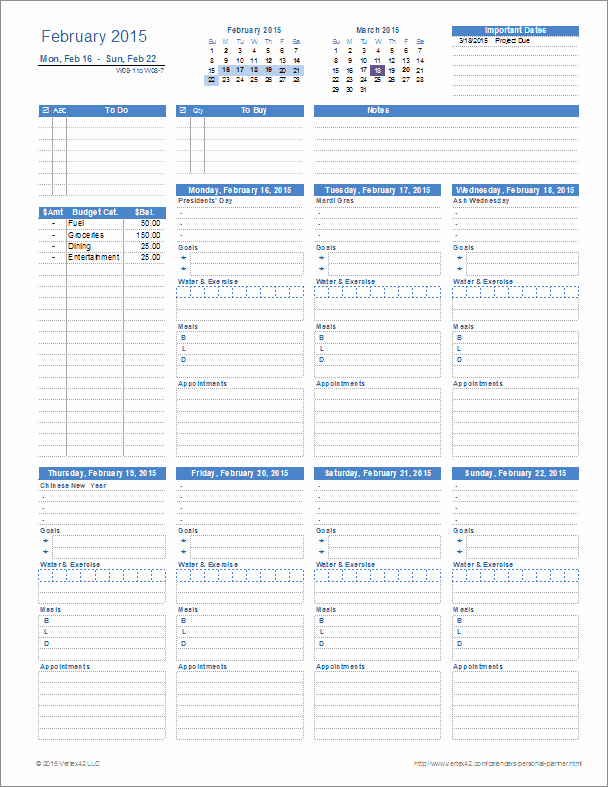 Personal Fitness Plan Template New Ultimate Personal Planner Template for Excel