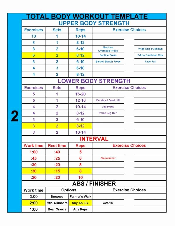 Personal Fitness Plan Template Unique 4 Practical Templates to Simplify Workout Design