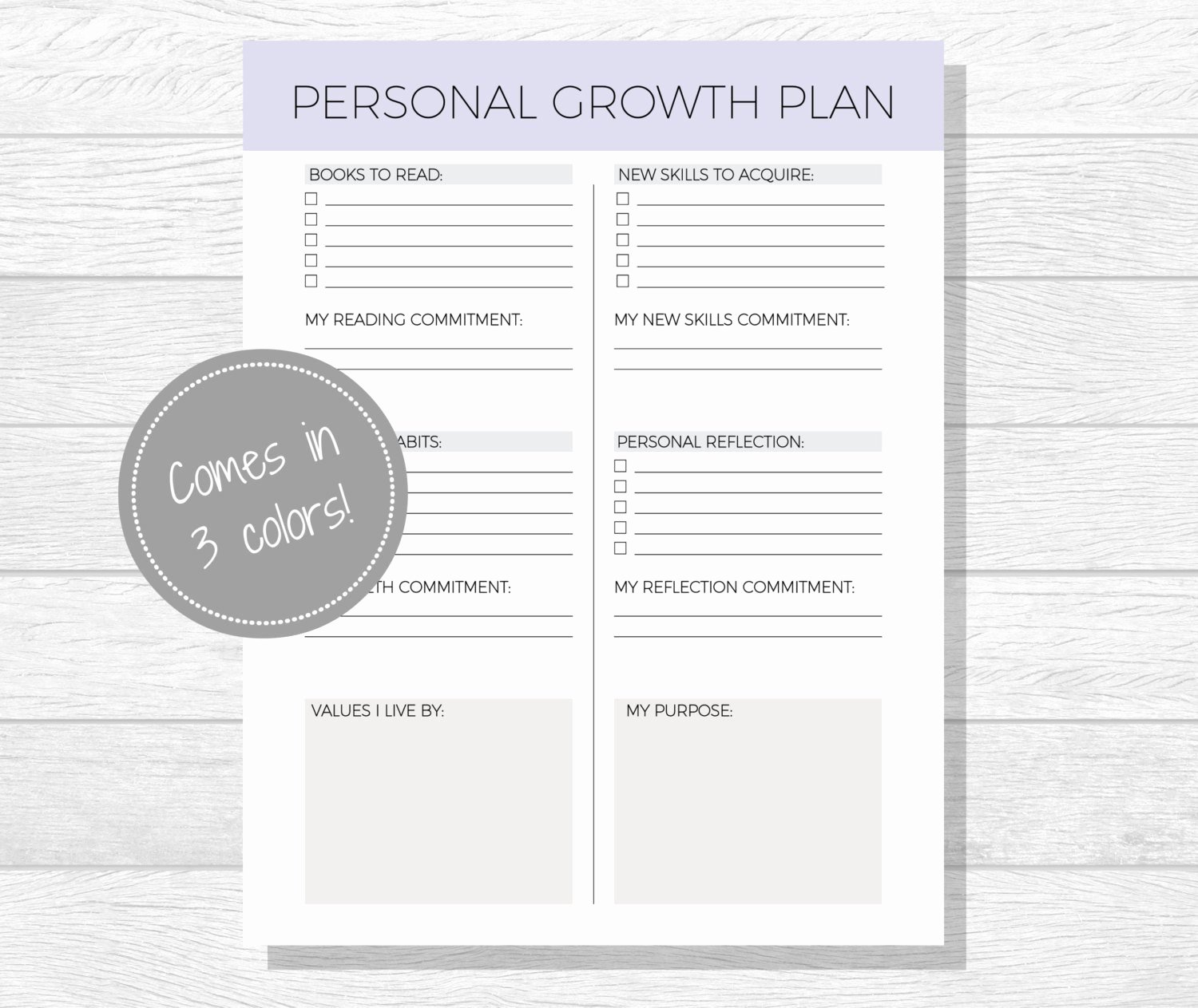 Personal Growth Plan Template Best Of Personal Growth Plan Printable Personal Development Goal